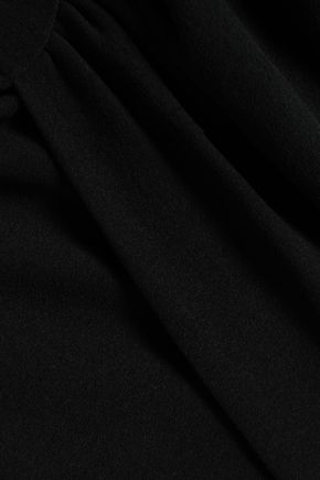 IRO Dorio wrap-effect crepe mini skirt