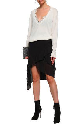 IRO Forites asymmetric ruffled crinkled-gauze skirt