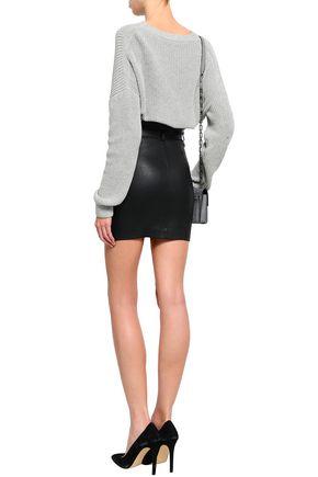 IRO Hexim belted leather mini skirt