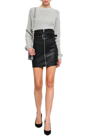9858eb71a Shoptagr | Hexim Belted Leather Mini Skirt by Iro