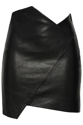 IRO Enamah asymmetric leather mini skirt