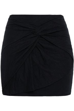 IRO Cotton and modal-blend jersey mini skirt