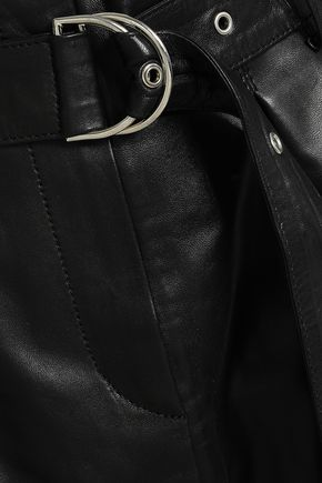 IRO Anblum belted leather mini skirt