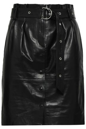 IRO Anblum belted leather mini skirt