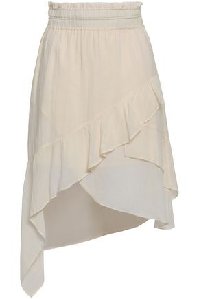 IRO Forites asymmetric ruffled crinkled-gauze skirt