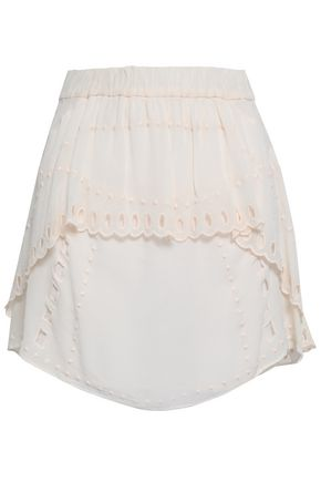 IRO Broderie anglaise georgette mini skirt