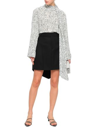 JOSEPH Asymmetric wool-canvas mini skirt