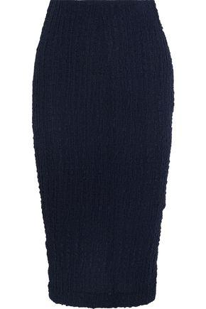 VICTORIA BECKHAM Silk-seersucker pencil skirt