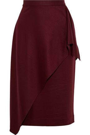 DIANE VON FURSTENBERG Draped brushed-jersey pencil skirt