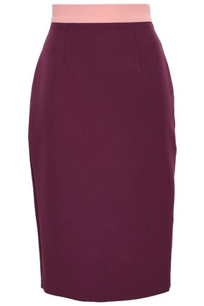 ROKSANDA Two-tone crepe pencil skirt