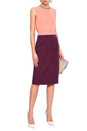 ROKSANDA Two-tone crepe pencil skirt