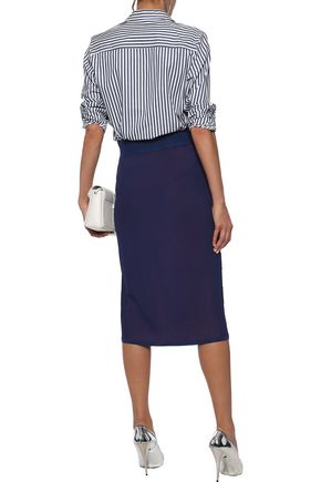 RAG & BONE Ridley checked terry midi pencil skirt
