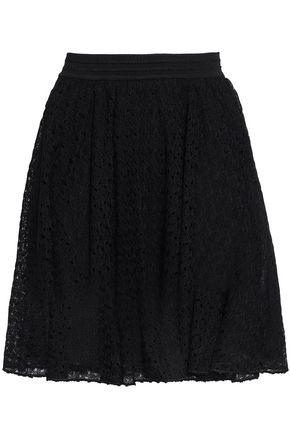MISSONI | Missoni Pleated Crochet-Knit Mini Skirt | Goxip