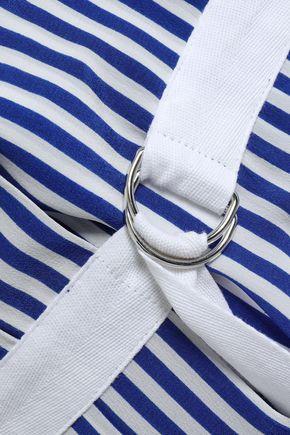 JOSEPH Clyde Deck Chair striped silk midi wrap skirt