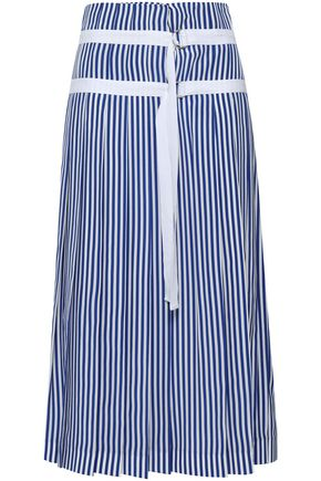 JOSEPH Clyde Deck Chair striped silk midi wrap skirt
