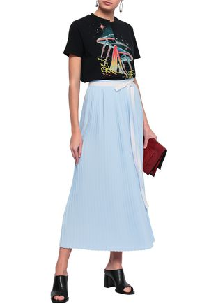 MM6 MAISON MARGIELA Belted pleated cady midi skirt