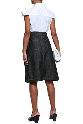 MM6 MAISON MARGIELA Lace-up flared denim skirt