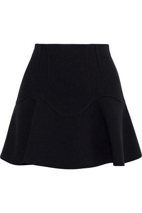 ALEXANDER WANG Fluted crepe mini skirt