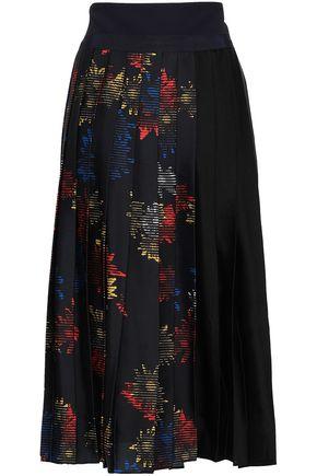 VICTORIA, VICTORIA BECKHAM Printed satin skirt