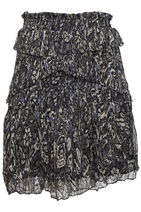 Gerill Ruffled Printed Georgette Mini Skirt by Iro