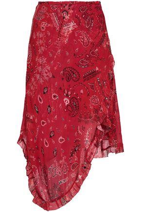 IRIEDAILY | Iro Banem Asymmetric Printed Crepe De Chine Skirt | Goxip