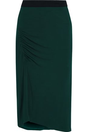 BY MALENE BIRGER Gathered stretch-jersey skirt