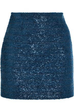 VICTORIA, VICTORIA BECKHAM Metallic bouclé mini skirt
