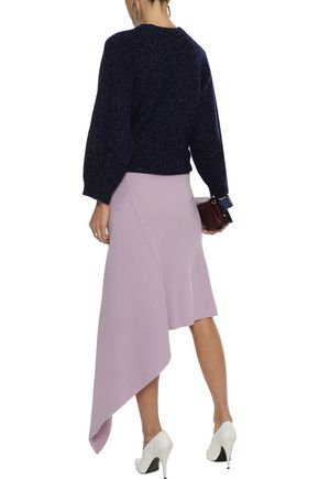 STELLA McCARTNEY Asymmetric ribbed wool skirt