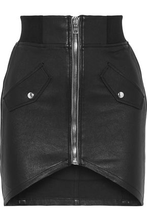 RTA Isla leather mini skirt