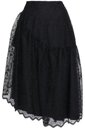 SIMONE ROCHA Embroidered tulle midi skirt