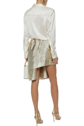 STELLA McCARTNEY Layered lamé skirt
