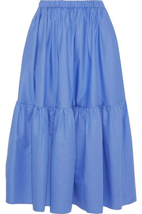 STELLA McCARTNEY Cotton-poplin midi skirt