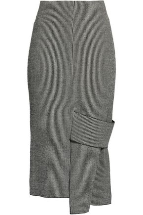 VICTORIA BECKHAM Asymmetric woven midi skirt