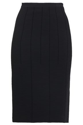 GIORGIO ARMANI Ribbed-knit pencil skirt