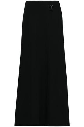 GIORGIO ARMANI Flared silk-crepe maxi skirt