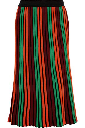 BY MALENE BIRGER Ninni striped wool-blend midi skirt