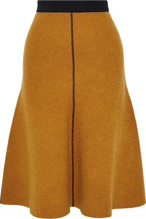 BY MALENE BIRGER Alassia brushed wool and cotton-blend bouclé skirt