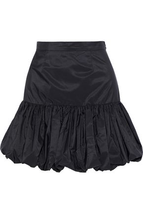 STELLA McCARTNEY Gathered taffeta mini skirt