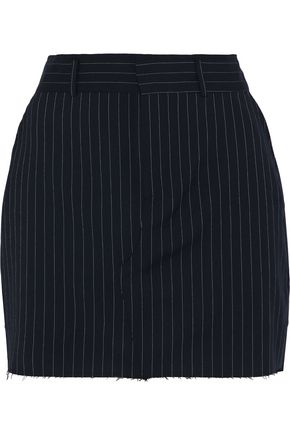 RTA Callie pinstriped twill mini skirt