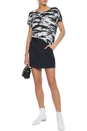 RTA Callie pinstriped twill mini skirt