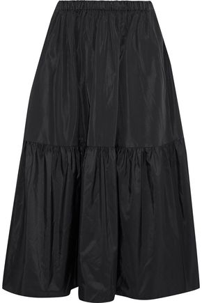 STELLA McCARTNEY Tanya gathered taffeta midi skirt