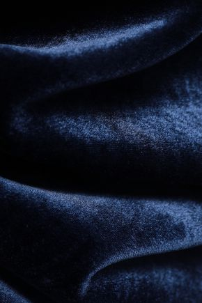 ROLAND MOURET Arreton velvet and stretch-crepe pencil skirt