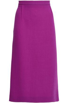 ROLAND MOURET Flared wool-crepe skirt