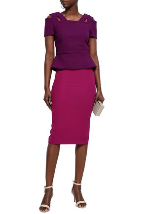 ROLAND MOURET Stretch-crepe pencil skirt