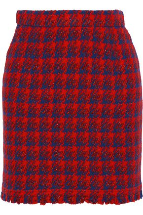IRO Quisera metallic houndstooth tweed mini skirt