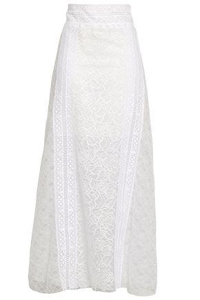 OSCAR DE LA RENTA Lace maxi skirt