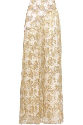 OSCAR DE LA RENTA Metallic lace maxi skirt