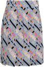 MARC JACOBS Printed silk crepe de chine mini skirt