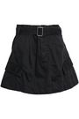 MARC JACOBS Belted cotton-twill mini skirt