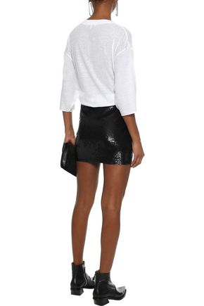 IRO Noblea sequined stretch-jersey mini skirt